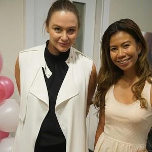 Chel Inumerable with international beauty expert Kristi Burns
