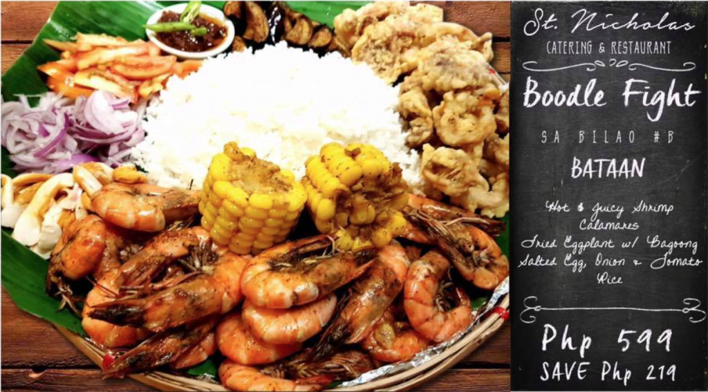 """Boodle Fight sa Bilao"" and ""Shrimp Wednesday"" Only at St. Nicholas Catering and Restaurant"