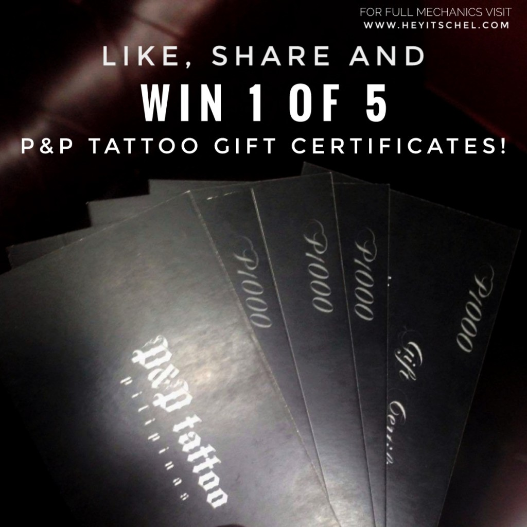P&P Tattoo Giveaway