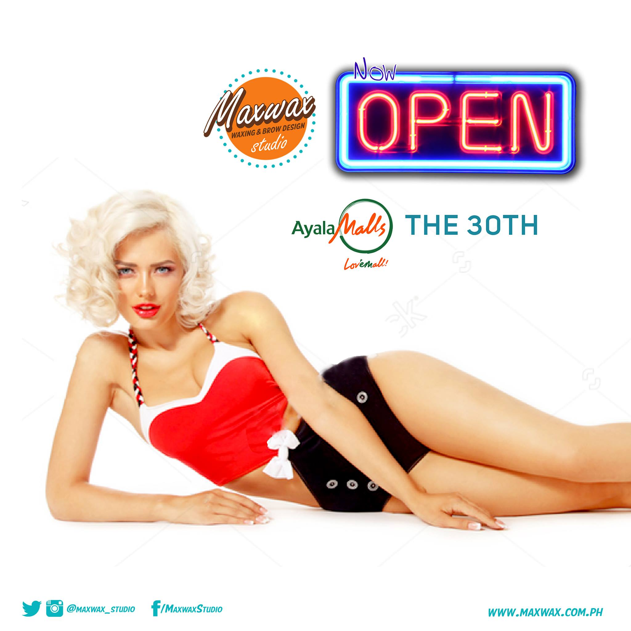 Maxwax opens its 3rd Branch in Ayala Malls The 30th