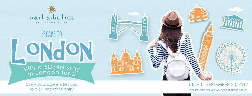 Win a trip to London c/o Nailaholics Nail Salon and Spa