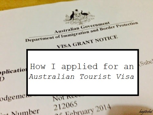 australian tourist visa application