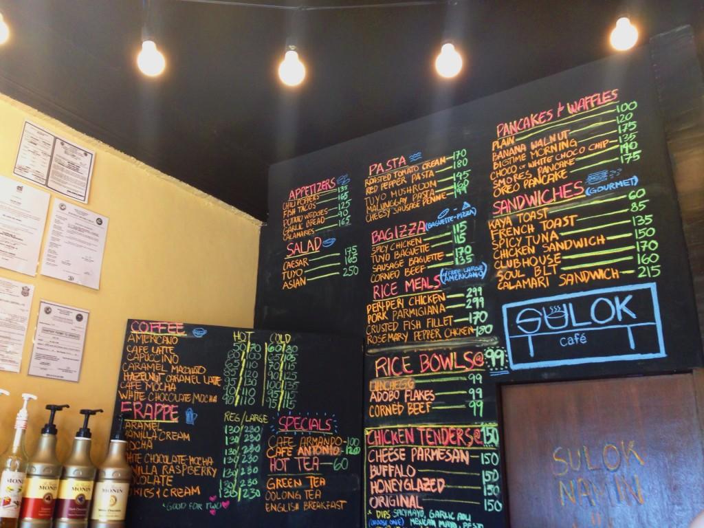 Sulok Cafe prices