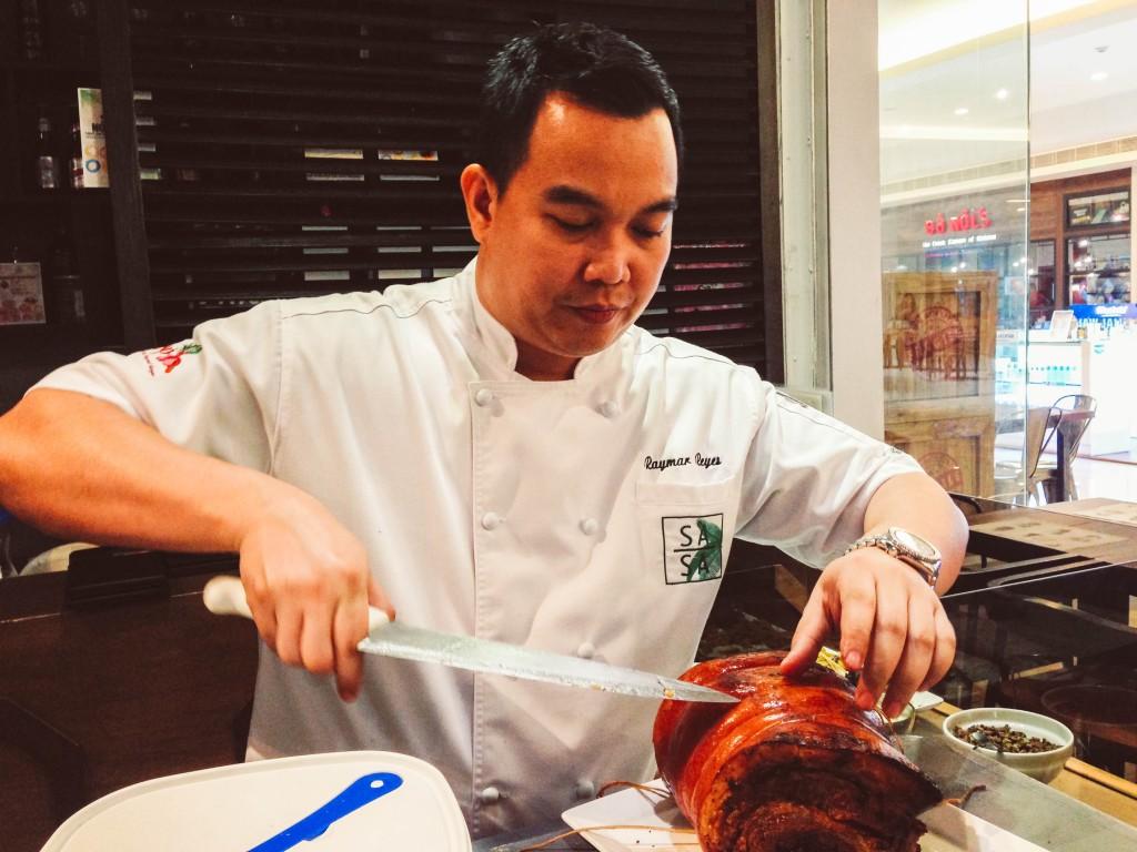 celebrity chef Raymar Reyes Sasa Asian Cuisine