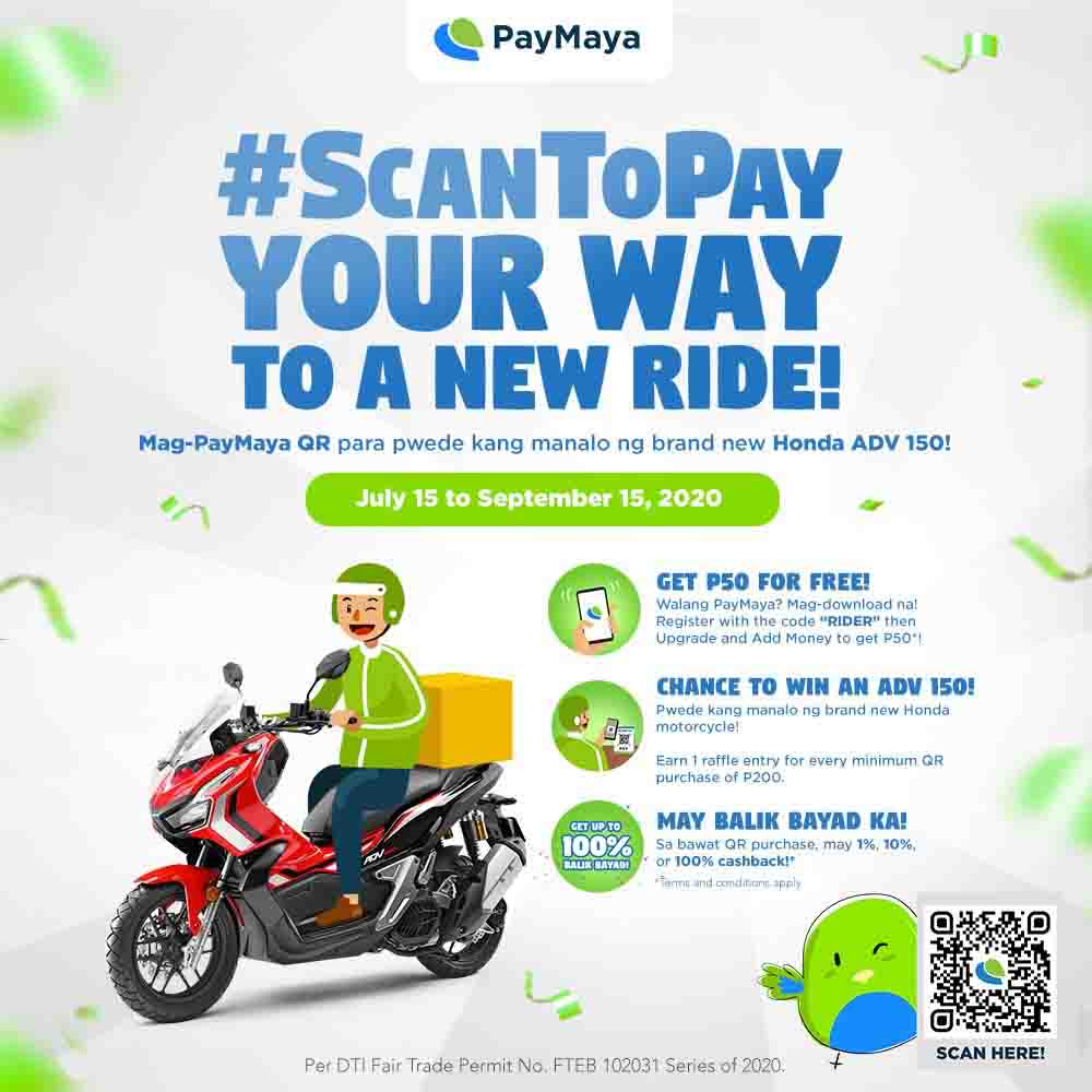 #ScanToPay your way to a new ride