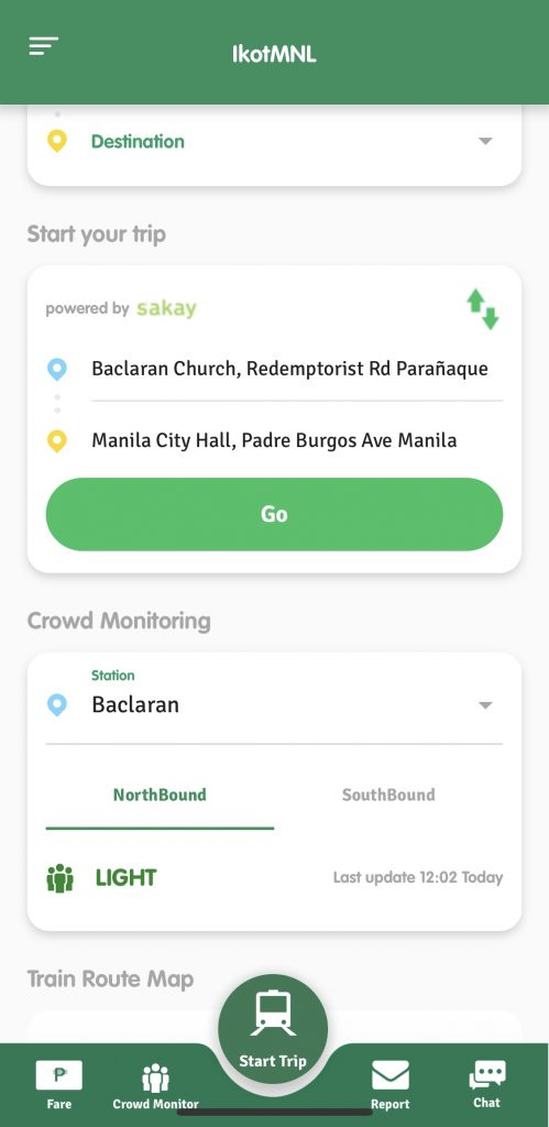 LRMC's ikotMNL app now with contact tracing feature and Sakay.ph navigation